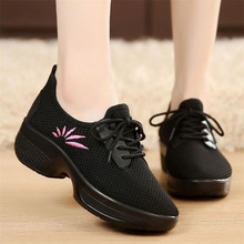 LAIDILANGTU Spring and autumn new ladies casual Sneakers shoes with mesh breathable lightweight movement