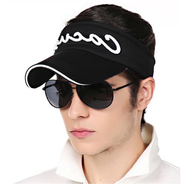 LGFD1SC12 SUMMER tennis golf sport women men unisex open top cotton  baseball cap sun visors with 2e71290d5835