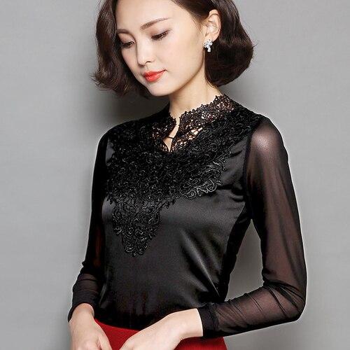 I48814 패션 솔리드 블랙 여성 셔츠-에서블라우스 & 셔츠부터 여성 의류 의  그룹 1
