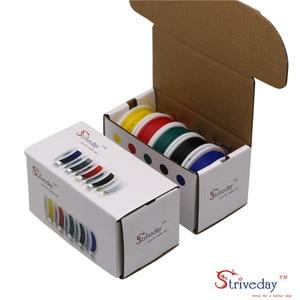Image 4 - UL 1007 26AWG 50 m Kabel lijn Vertind koper PCB Draad 5 kleur Mix Solid Draden Kit Elektrische Draad DIY