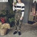 2016 Nuevos Hombres del ejército moda camuflaje delgado overol Casuales bolsillos denim jeans Monos Tallas grandes
