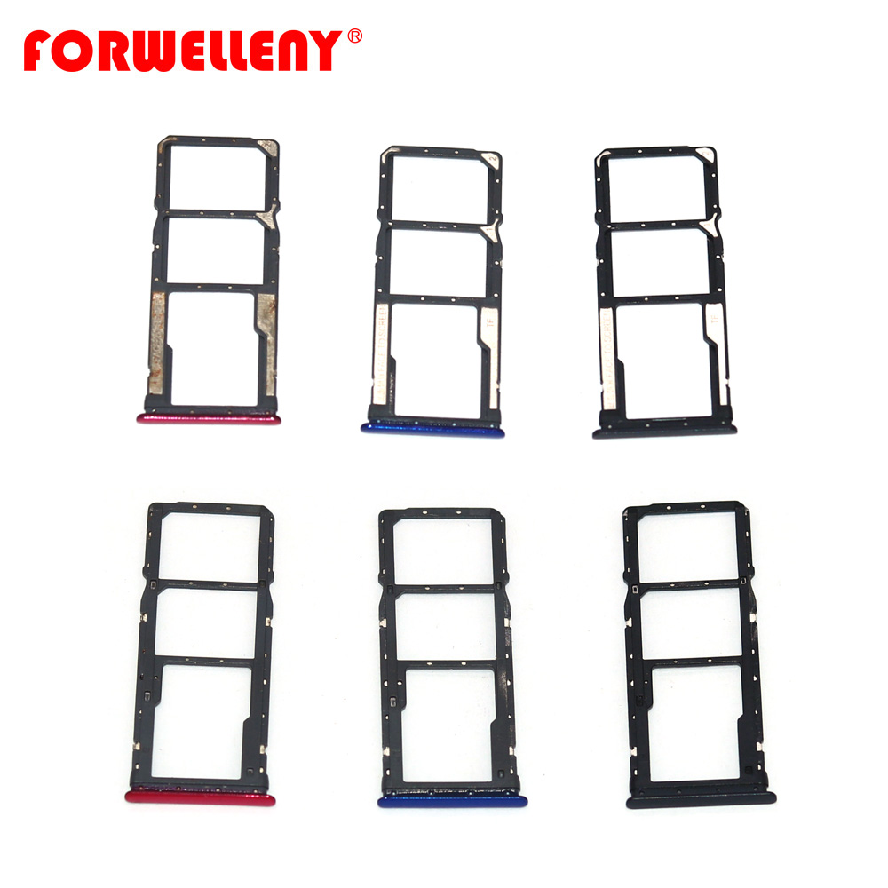 For xiaomi xiomi redmi 7 redmi7 Micro <font><b>Sim</b></font> Card Holder <font><b>Slot</b></font> Tray Replacement Adapters black blue rose red image