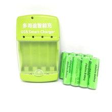 Cncool 8Pcs New Alkaline Rechargeable Battery 1.5V AA 3000mah + 1pcs USB Smart Alkaline/NI-MH/Ni-Cd Battery Charger цена в Москве и Питере