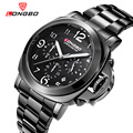 2016New Chronograph military top brand quartz mens stop watch waterproof big dial luxury leather strap watches relogio masculino