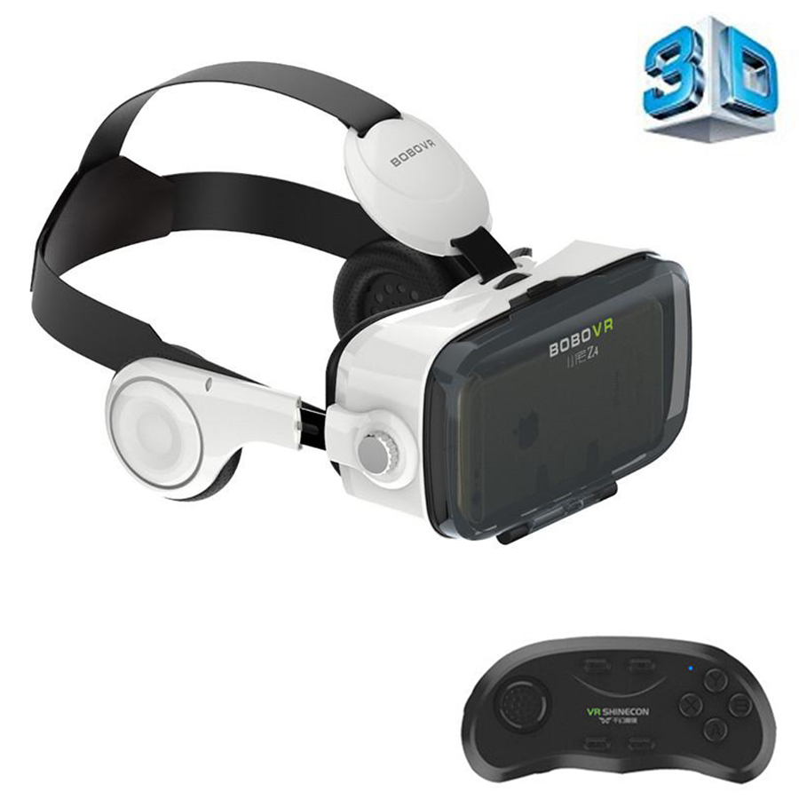 Newest Wearable 120 degree visual 3D Glasses VR BOX Virtual Reality 3D VR helmet Video Glasses 3.5-6.0 Inch for iPhone/Android image