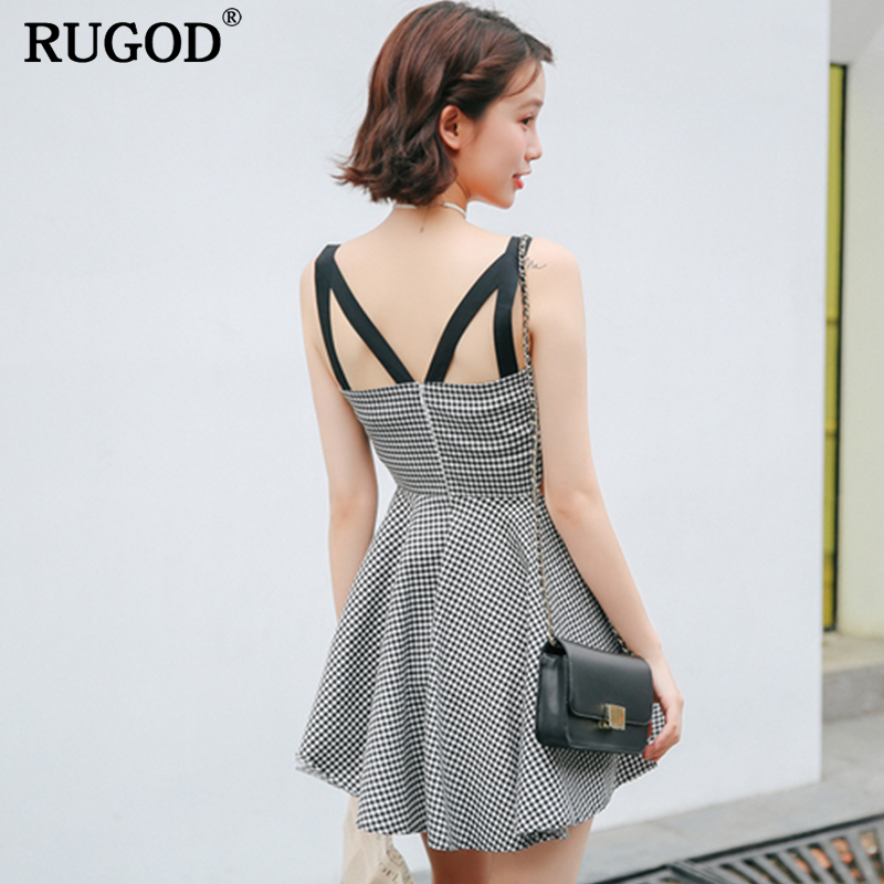 RUGOD 2018 New Arrival Spring Summer Sexy Women Dress Strapless Female Dress Sleeveless Knitted Party Dress Casual Femme Robe baishanglinna 2018 new spring and summer women dress black gray sleeveless knitted dresses sexy tight elastic dress party dress