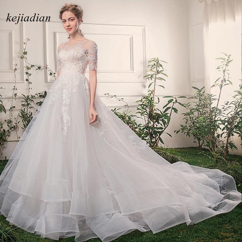 Vintage Lace Gothic Overskirts Wedding Dresses 2018 Plus: Plus Size Luxury Vintage Lace Up Wedding Dresses Half