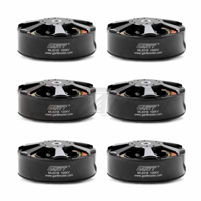 Ormino Drone Moteur 6 pcs ML 8318 100KV Moteur Brushless 3080 3010 porpeller FPV RC multicopter Caméra drones quadcopter UAV kit