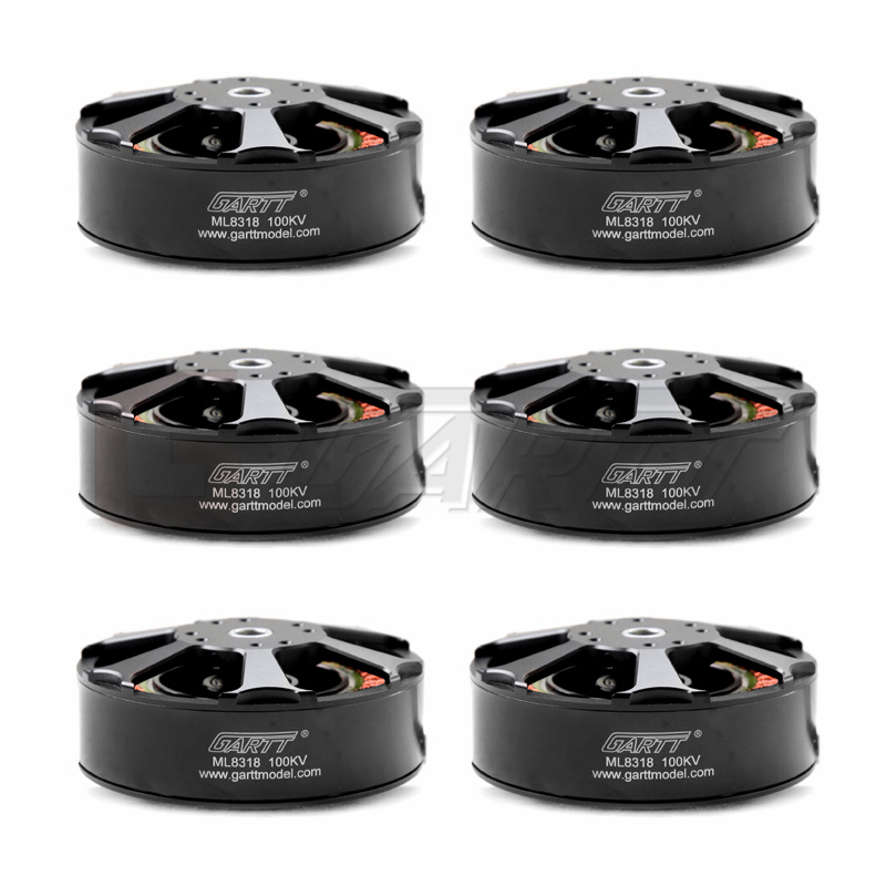 Ormino Drone moteur 6 pièces ML 8318 100KV moteur sans brosse 3080 3010 porpeller FPV RC multicopter caméra drones quadrirotor aéronef sans pilote (UAV) kit