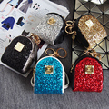 2016 Real New Arrival Unisex Patchwork Korean Version Of The Mini Cute Sequin Purse Pendant Car Keychain Key Bag Backpack Strap