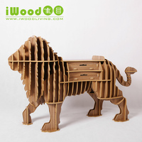 European Nordic Continental Art Home Decoration Wooden Ornaments Lion Drawer Frame Creative Home Craft Free Shipping