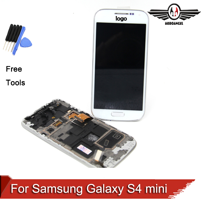 100 tested For Samsung Galaxy S4 mini i9190 i9195 i9192 LCD Digitizer Assembly frame free shipping