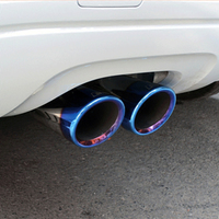 Mufflers For Audi A1 A3 A4L A5 A6L Q3 Q5 Car Styling Stainless Steel Rear Tail Exhaust Muffler Tip End Pipes Silencer Tail Pipe