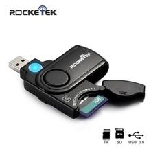 Rocketek usb 3.0 a più memoria adattatore lettore di schede lettore di schede per la micro SD / TF lettore microSD per computer portatile