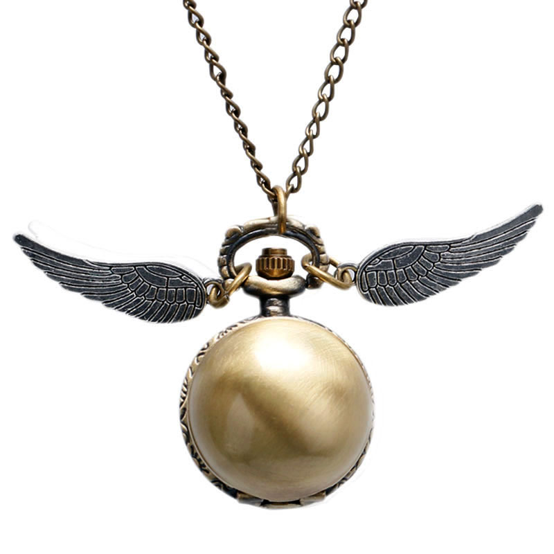 Fashion Woman Lady Wings Antique Steampunk Pocket Watch