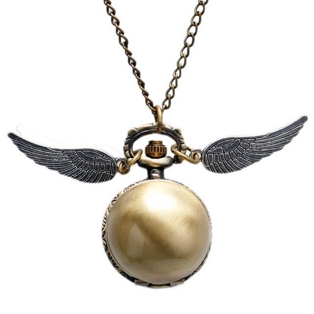 Fashion Woman Lady Wings Antique Steampunk Pocket Watch