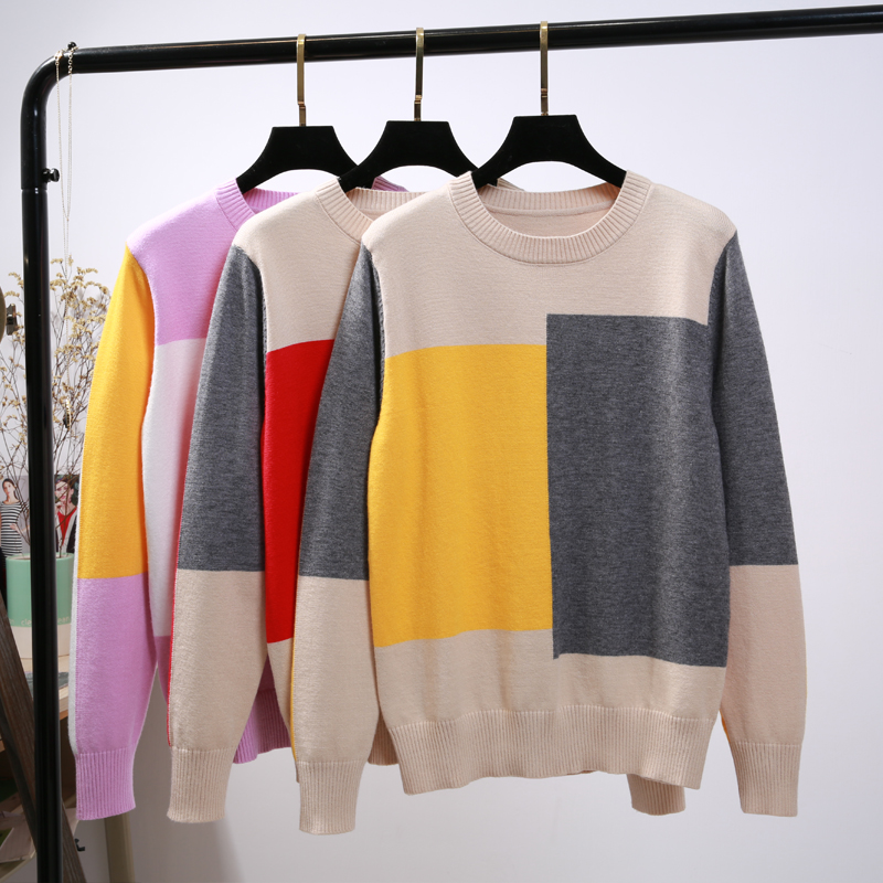 BYGOUBY Multicolor Women Autumn Winter Sweater Fashion Loose Casual Top Knitted Soft Warm Female Pullover and Sweater-in Pullovers from Women's Clothing on AliExpress - 11.11_Double 11_Singles' Day 1