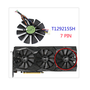 Image 4 - 87mm T129215SH T129215SL 12V 0.30A Fan For ASUS ROG STRIX RTX 2070 O8G GAMING RTX2060 O6G Graphic Card Cooling Fan