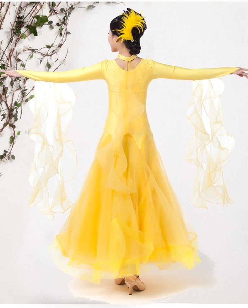 Nuevo estilo de doble hombro para mujeres, salón de baile, vals, - Ropa de danza y vestuario escénico - foto 5