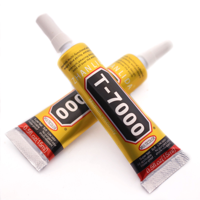 15ml T-7000 more powerful new epoxy resin adhesive T7000 black liquid glue super sealant handset touch screen rack maintenance zhanlida t 7000 50ml epoxy resin black glue repair crack lampshade move the door shoes multi purpose t7000 glue gun page 6