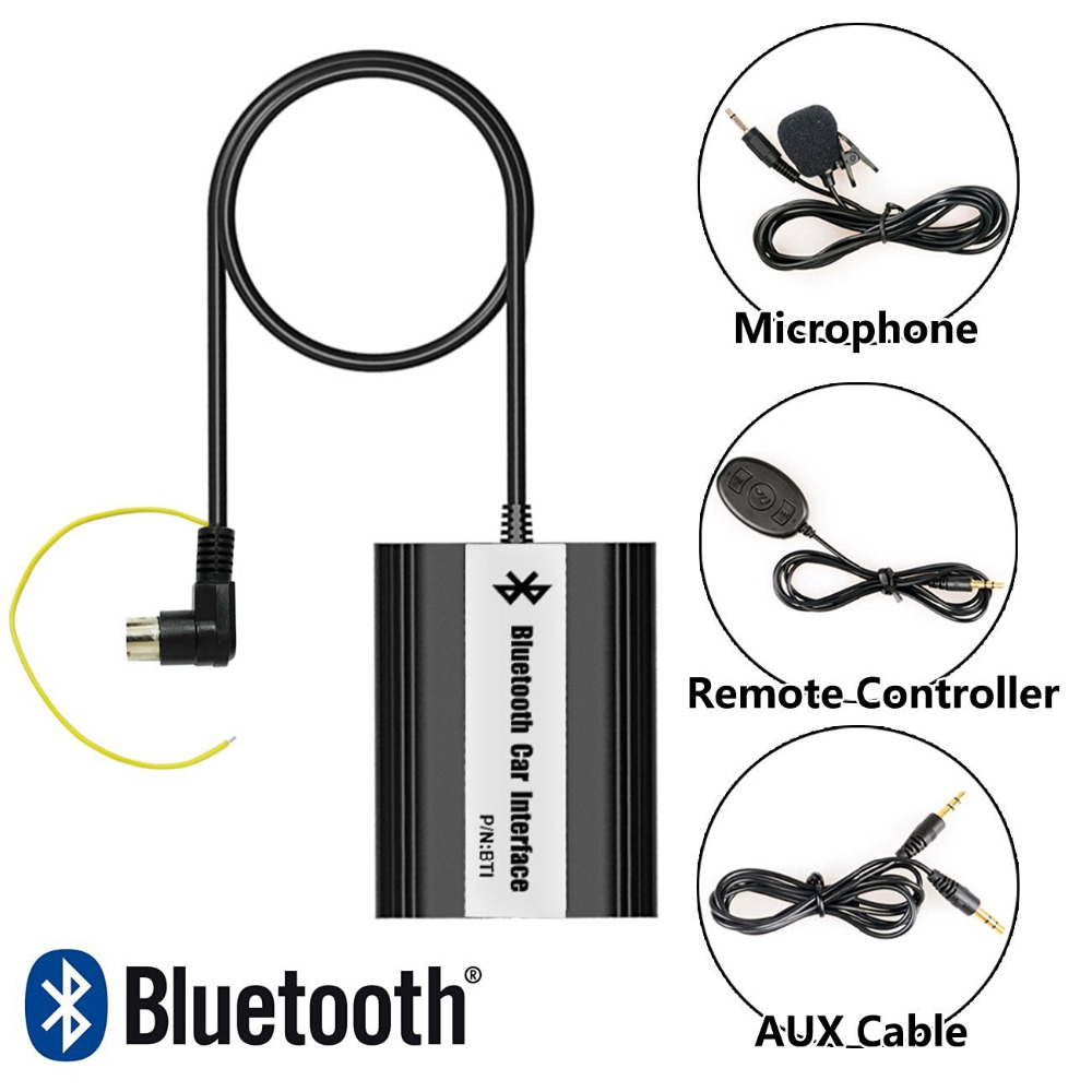Bluetooth Receiver Car Kit Hands Free Phone Call Wireless Music Adapter for Volvo C70 S40 S60 S80 V40 V70 XC70 HU Plug 2 receivers 60 buzzers wireless restaurant buzzer caller table call calling button waiter pager system