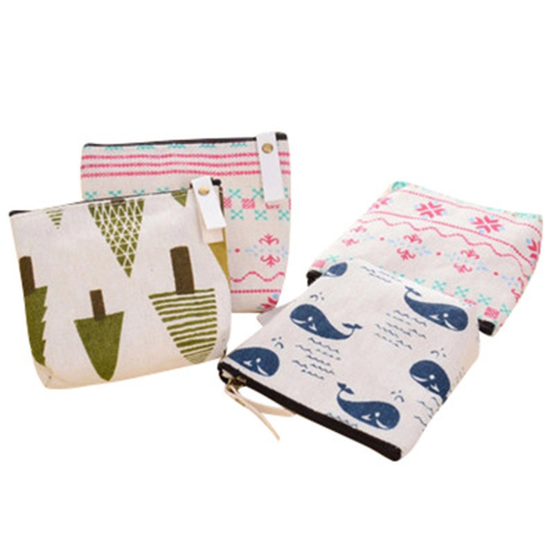 1pcs Kawaii Bag  Canvas Coin Purse Stationery Pencil Pouch Novelty Cartoon Pencil Case Student Cute Key Bag School Supplies