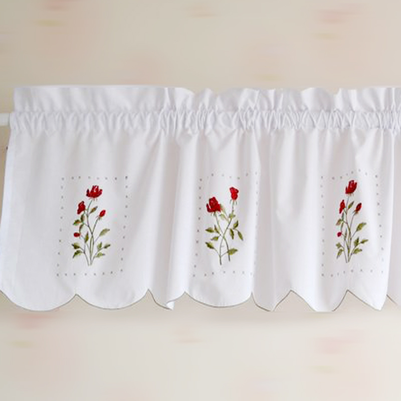 150cm 32cm kitchen short curtain fabric voile window screening cabinet flower curtain bathroom curtain small fresh curtains  5. Small Bathroom Window Curtains Promotion Shop for Promotional