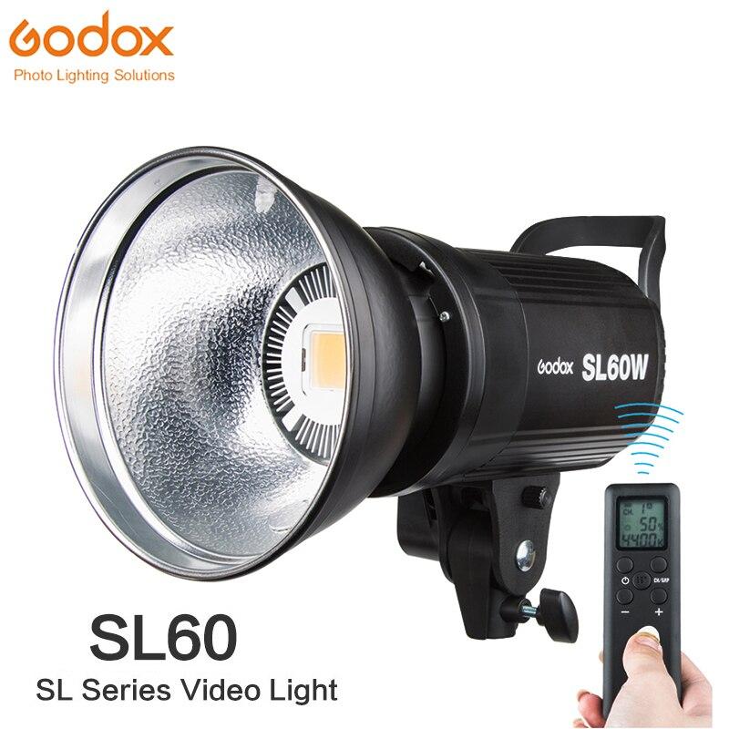 Godox SL 60W CRI 95 LED Video Light SL60W White 5600K 60W Bowens Mount Remote Controller