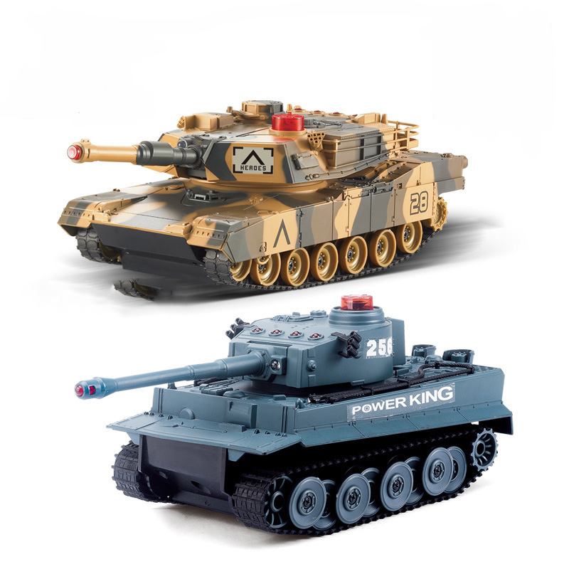 RC Tank Model Toys Remote Control War Tank with Light for Boys Children Gift 2 4g huanqi 516c rc infrared battle tank automatic shows tank remote control toys tank for children gift 1pcs lot