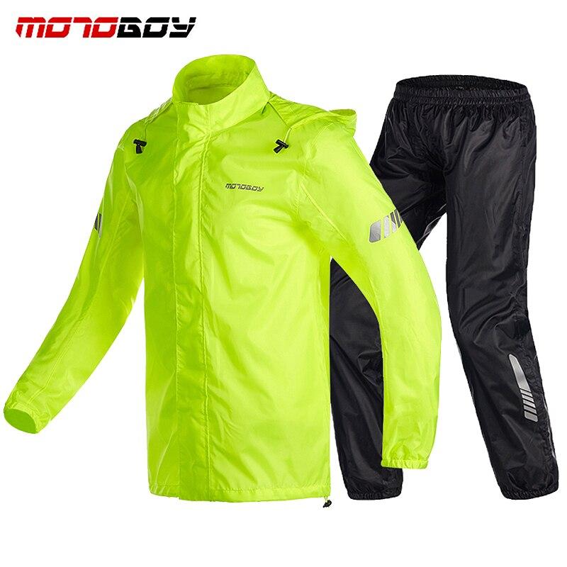 MOTOBOY Motorcycle Waterproof Raincoat Motocross Riding Ventilate Sports Raincoat Rain Pants Suit Motorcycle Rain Suits