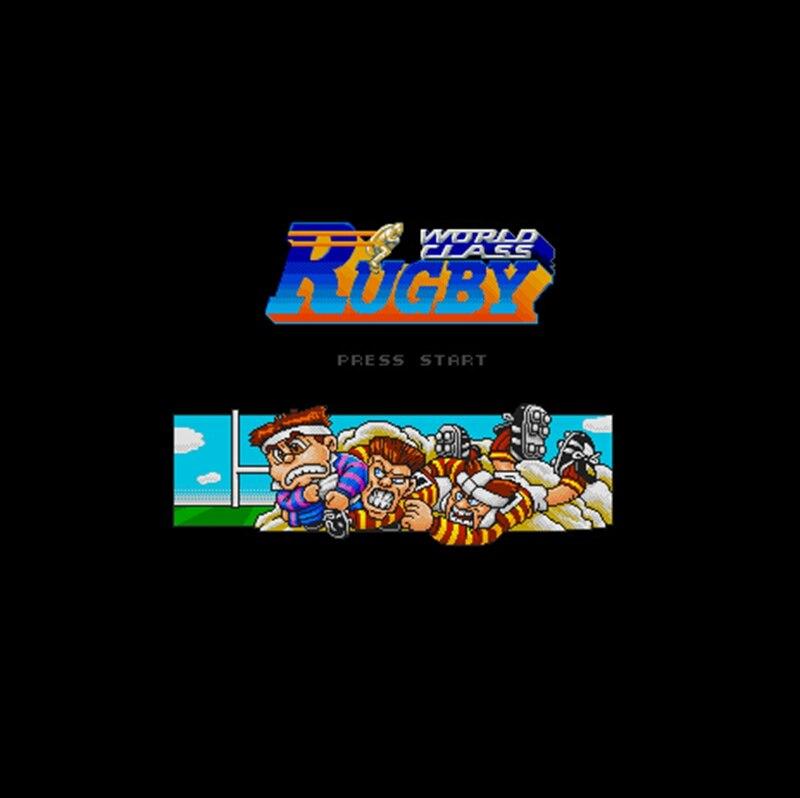 世界クラスラグビー NTSC バージョン 16 ビット 46 ピンビッググレーゲームカード米国ゲームプレーヤー