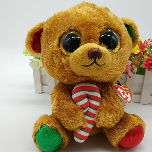 a2b0839ce38 bella panda TY BEANIE BOOS 1PC 25CM BIG EYE Plush Toys Stuffed animals KIDS  TOYS VALENTINE