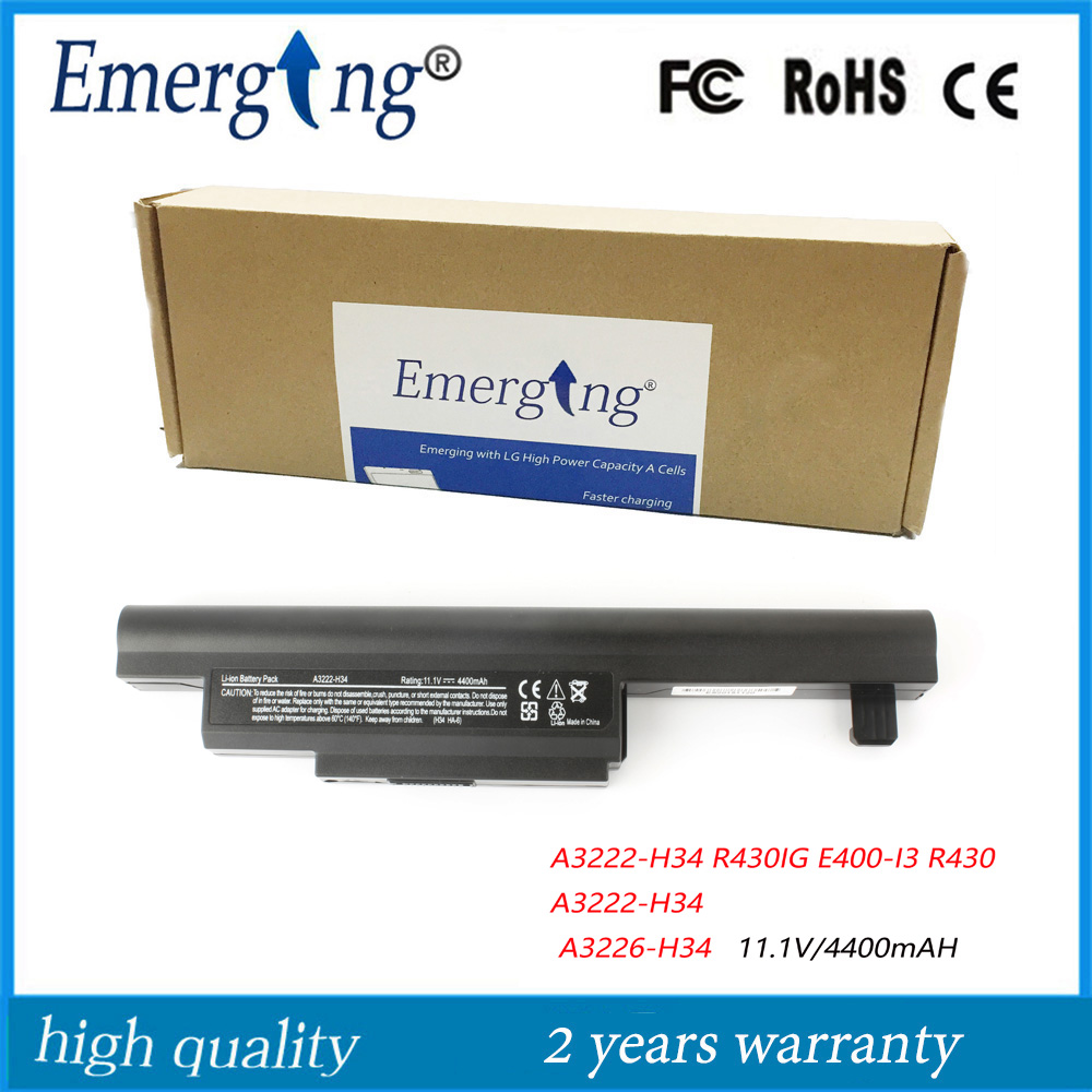 11 1V 4400Mah Japanese Cell High Capacity Quality Laptop Battery for Hasee Founder R430IG E400 I3