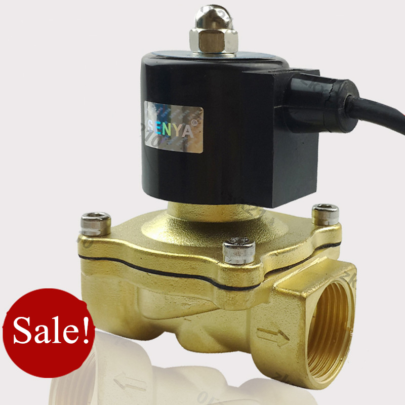 цена на AC220V DC24V G1/2,3/4,1 Brass Electric Solenoid Valve for Water Oil Fountain Waterproof IP65 Normally Closed