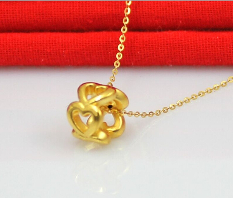 Pure 24k Yellow Gold Pendant/ 3D Craved Hollow Heart Bracelet Pendant/ 1g french connection french connection fc1200wrg