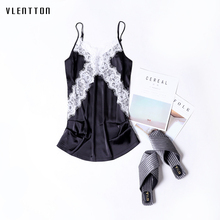 2019 New Sexy Sling Tank Tops Women V-Neck Sleeveless White Black Lace Top Vest Spring summer Fashion Ladies Camisole Tops 2019 novel summer women camisole fashion sexy simple solid color vest sling loose v neck lace sleeveless camisole tops