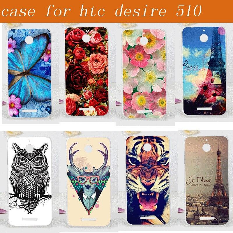 14 vzorů pro pouzdra na telefon HTC Desire 510, tvrdá plastová módní malba, ochranný zadní kryt pro HTC Desire 510