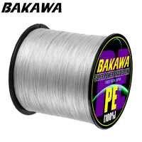 BAKAWA 4 Stränge 300M Hohe Qualität Geflochtene Linie PE Angelschnur Salzwasser Weben Angelschnur Pesca Angeln Tackle Fisch linie