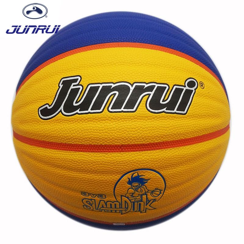 JUNRUI Высокое качество нескользящие Размеры 7 Кожа PU баскетбольные мячи износостойкой открытый Крытый мужские тренировочный мяч basquete JB-701