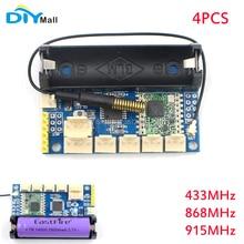 4pcs DIYmall 433/868/915Mhz Lora Radio Node V1.0 SX1278 Rola Radio Module ATmega328P RFM98 Wireless DIY Kit for Arduino Pro Mini цена в Москве и Питере