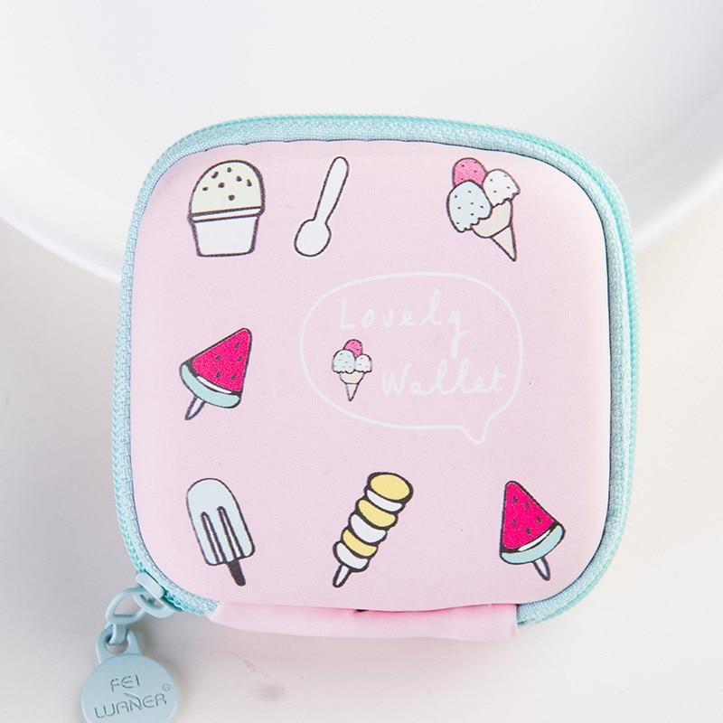 New fruit cartoon colorful mini round portable coin hard key earphone bracket lmultifunctional bag master