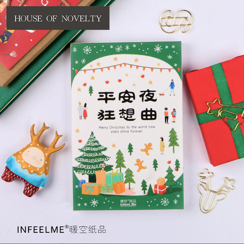 30 pcs/pack Christmas Eve Wishes Greeting Card Postcard Birthday Gift Card Set Message Card Letter Envelope Gift Card 30 pcs pack creative cup of coffee shape coffee diary postcard diy envelope gift birthday card mini message card paper bookmark