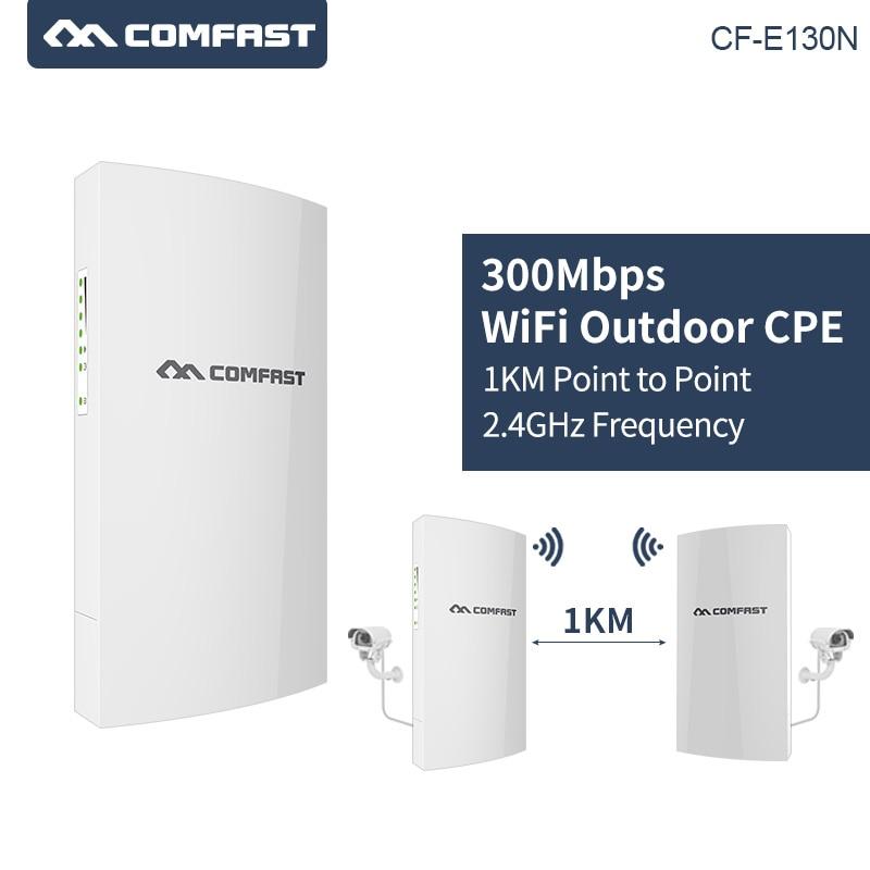 COMFAST 1KM Long Range 300Mbps 2.4Ghz Outdoor Mini CPE Wireless AP Bridge WIFI Access Point 5dBi WI-FI Antenna Nanostation CPE