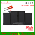 genuine original A1405 battery for Apple Macbook Air 13'' inch A1369 A1466 MD231 MD232 MC503 MC504 MC965 MC966 50Wh 7.3V
