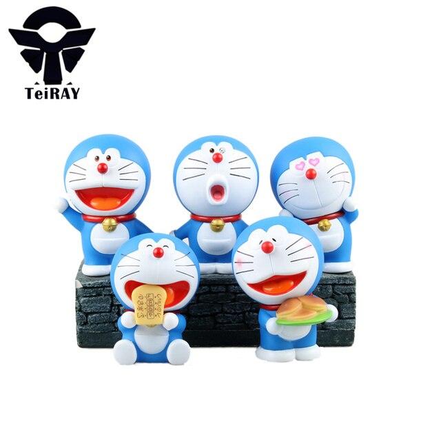 5 Stucke Set Anime Nette Doraemon Figuren 10 CM Pvc Manga Bandai Aktion Minifiguren Jouet Japan