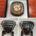Hot Sale Fashion Jewelry 2015 Clemson Tigers Orange Bowl Championship Rings, High Quality Christmas Gift Rings For Men