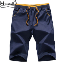 Mwxsd brand Casual Mens Cotton Shorts summer men short pants for male homme board shorts plus big size M-4xl
