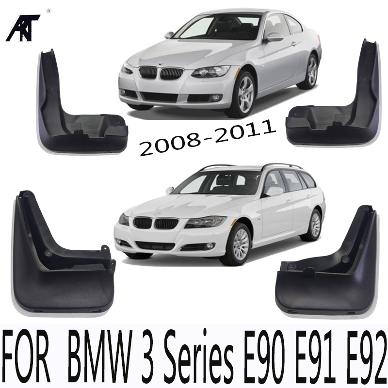 цена на Car Mud Flap Guard Splash Guard Mudguard For BMW 3 Series E90 E91 E92 2008 2009 2010 2011 4 pcs / Set Mudguard