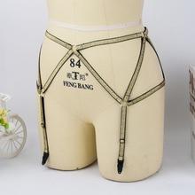 Gold Bottom Panties Women's Sexy Briefs Harajuku Sock Garters 90's Stocking Garters Adjustable Suspenders Belt Fetish Wear L0028