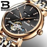 Switzerland BINGER Men Brand Watch Fashion Luxury Wristwatch Waterproof Automatic Mechanical Watch Sport Casual Diamond Watches
